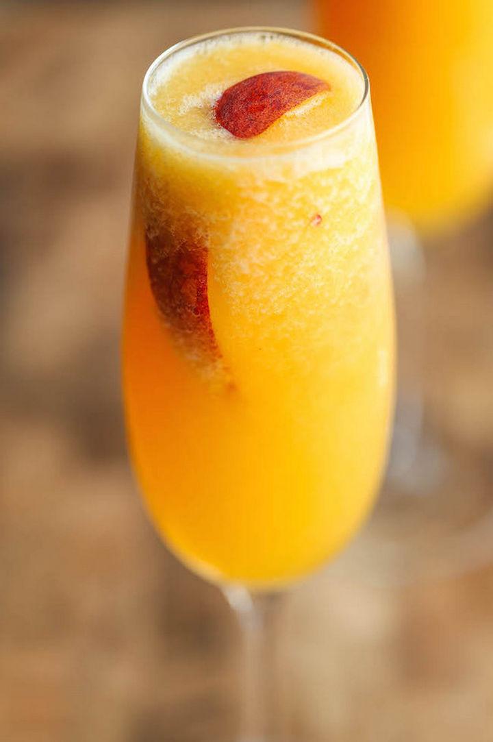 23 Wine Slushies - Frozen peach bellinis recipe.