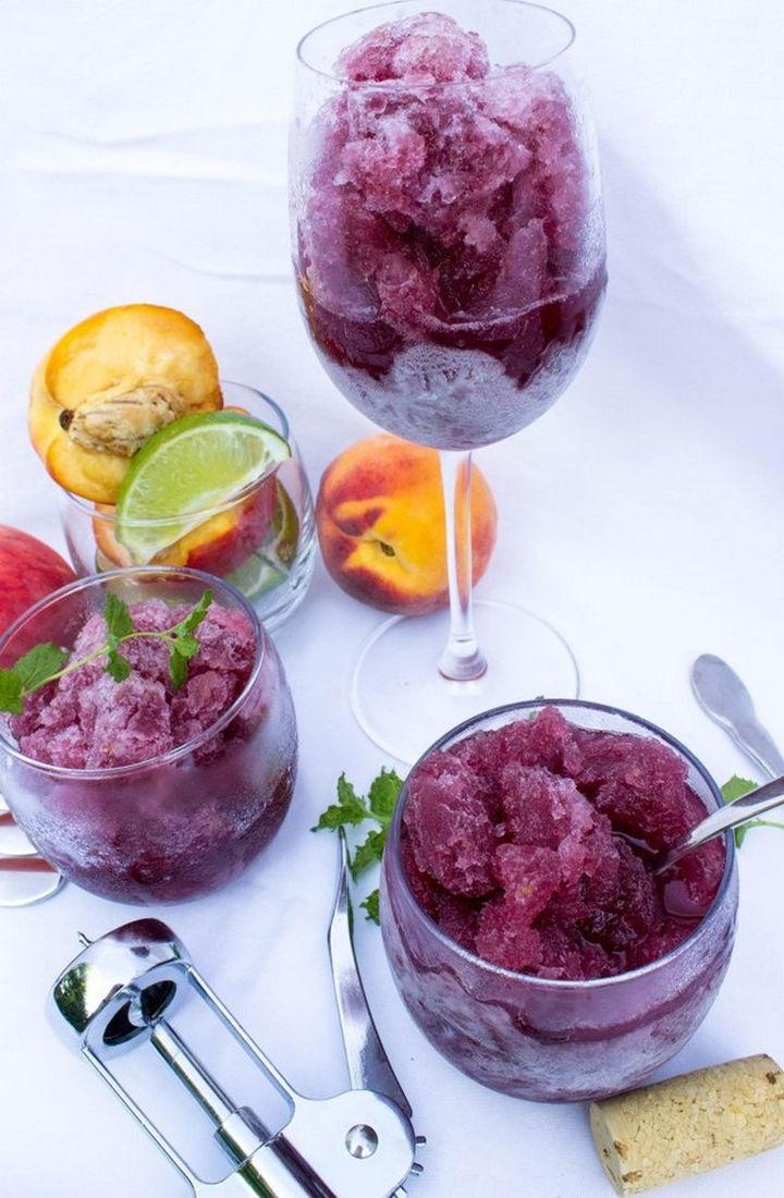 23 Wine Slushies - Peach sangria granita recipe.