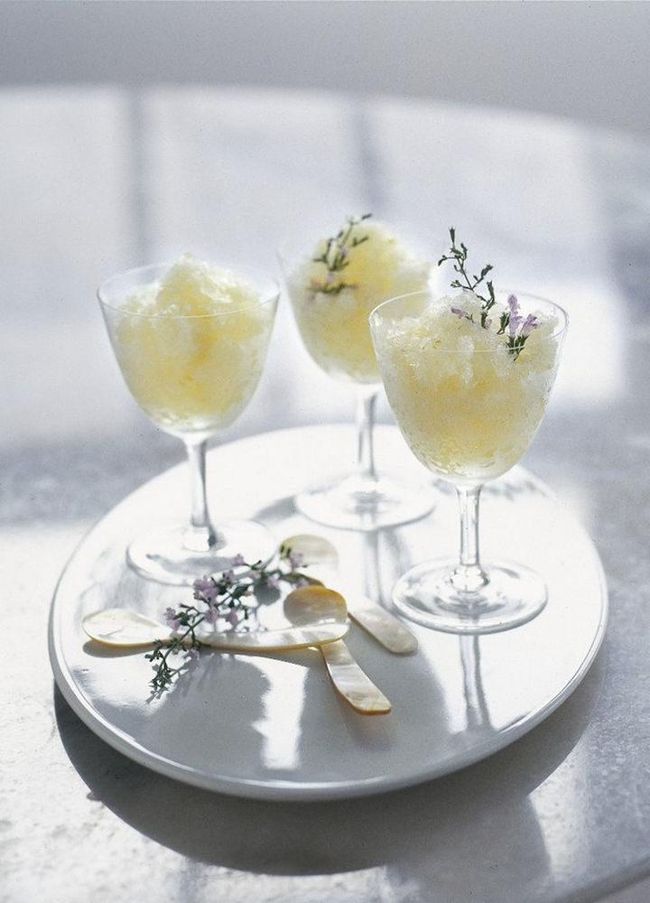 23 Wine Slushies - Sauternes and lemon honey granita recipe.