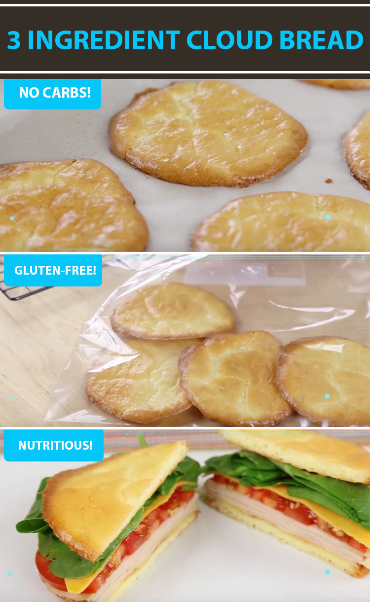 3 Ingredient Cloud Bread Recipe Is Low in Carbs and Gluten-Free!