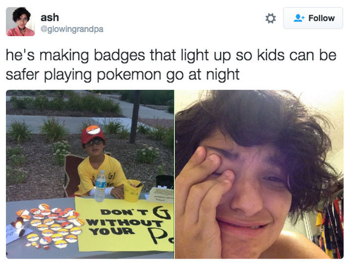 30 Happy Pictures - Looking out for his fellow Pokémon trainers.