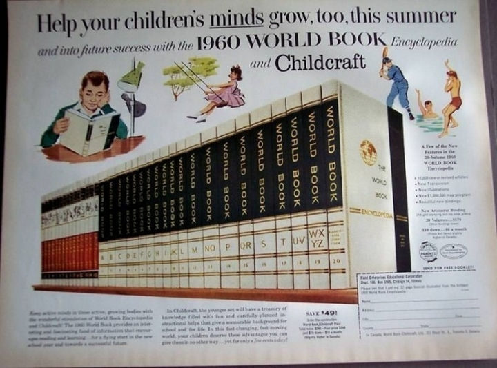 34 Things If You Grew Up in the 60s or 70s - Without Google or Wikipedia, encyclopedias is how we'd start a search.