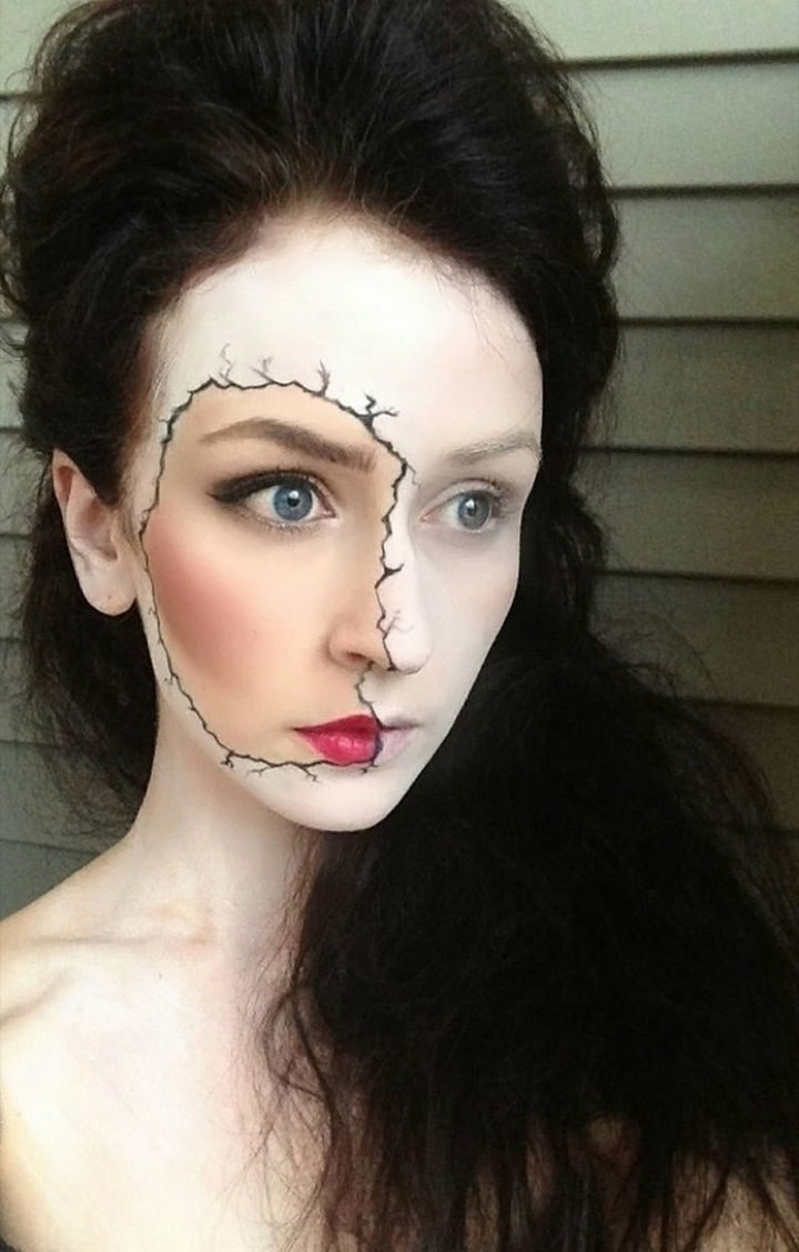 37 Scary Face Halloween Makeup Ideas - Zombie.
