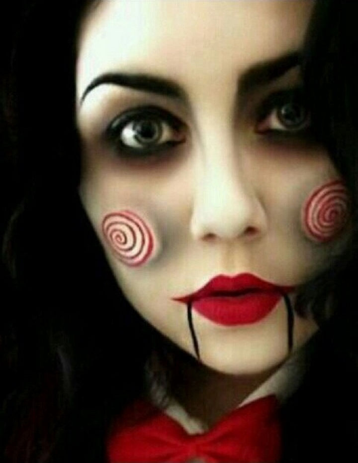 37 scary face halloween makeup ideas jigsaw - Scary Faces For Halloween With Makeup
