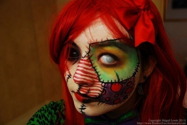 37 Scary Face Halloween Makeup Ideas - Twisted clown.