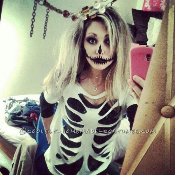 37 Scary Face Halloween Makeup Ideas - Skeleton.