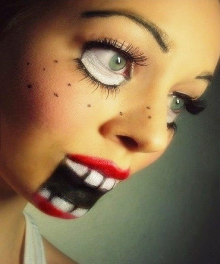 37 Scary Face Halloween Makeup Ideas Youll Want To Try - Halloween-face-makeup