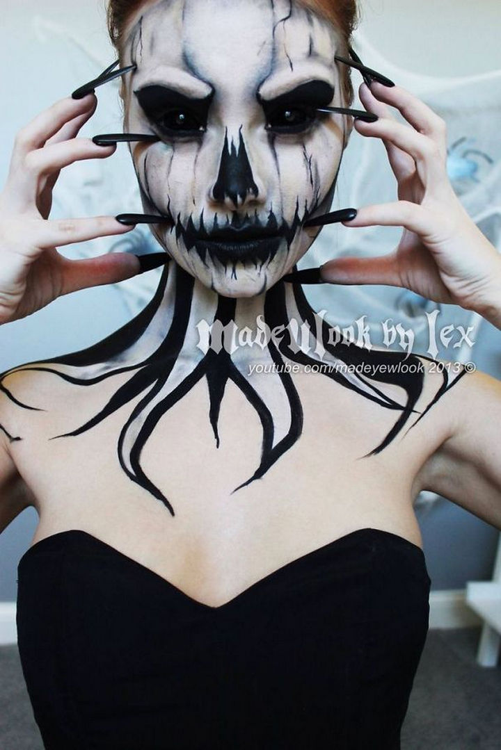 37 Scary Face Halloween Makeup Ideas - Pumpkin queen.