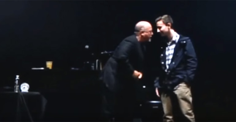 Billy Joel Invites Student Michael Pollack To Join Him On Stage To