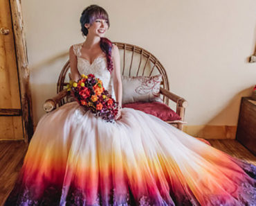 This Bride Airbrushed Her Wedding Dress and It Looks Awesome AF!