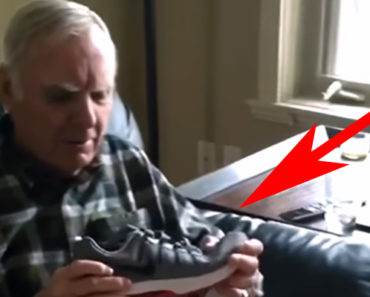 Dad Gets a New Pair of Light up Shoes and His Reaction Is Priceless!