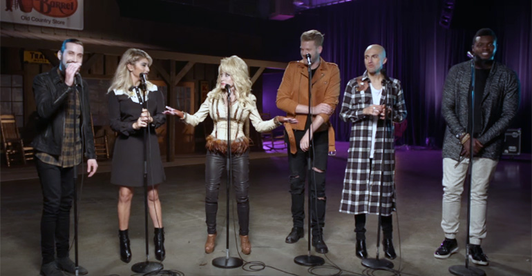 Dolly Parton & Pentatonix Perform A Capella Version Of Jolene..