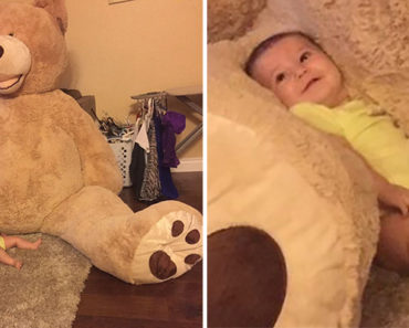 Grandpa Buys Giant Teddy Bear for His Granddaughter and Twitter Goes Wild