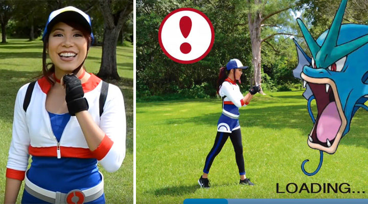 20 Pokémon Costumes for Halloween - DIY Pokémon Go female trainer costume.