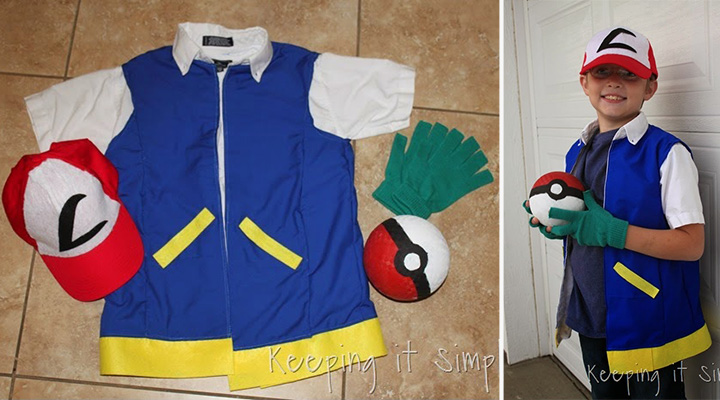 20 Pokémon Costumes for Halloween - DIY Ash Ketchum Costume.