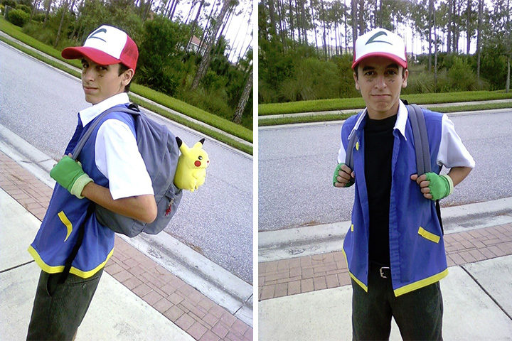 20 Pokémon Costumes for Halloween - Male Ash Ketchum Costume.