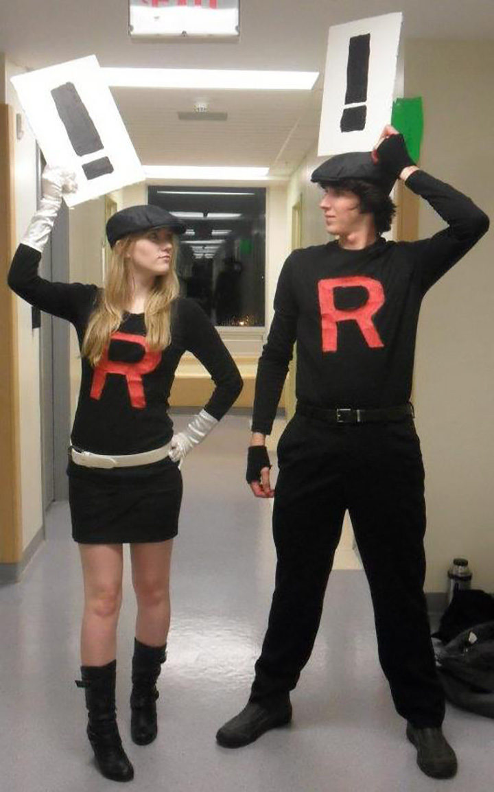 20 Pokémon Costumes for Halloween - Team Rocket grunts costume.