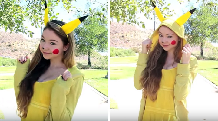 20 Pokémon Costumes for Halloween - DIY Halloween Pikachu costume.