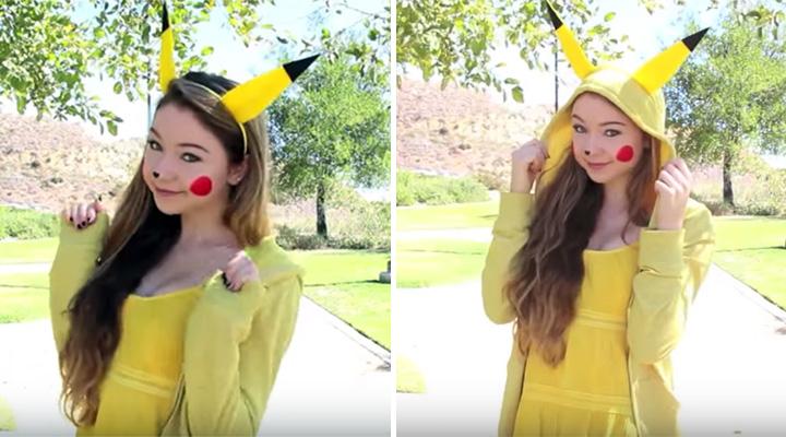 20 Pokémon Costumes for Halloween - DIY Halloween Pikachu costume.