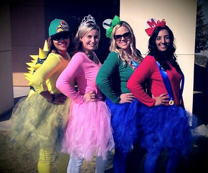 23 Super Mario and Luigi Costumes - The Super Mario gang sporting cute tutus!