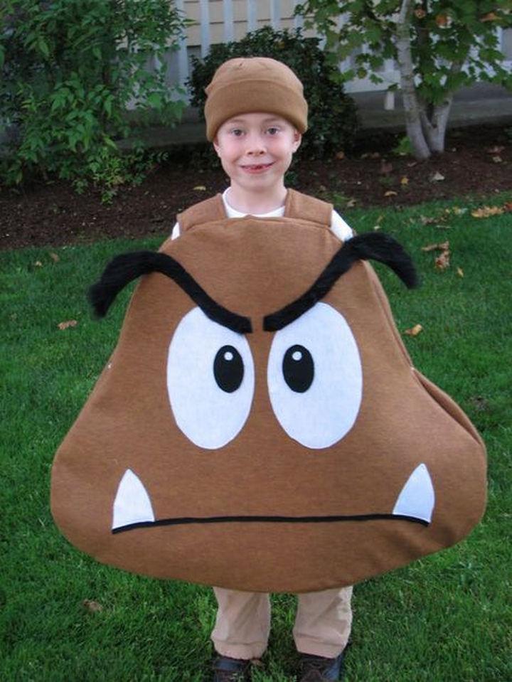 23 Super Mario and Luigi Costumes - DIY Goomba costume.
