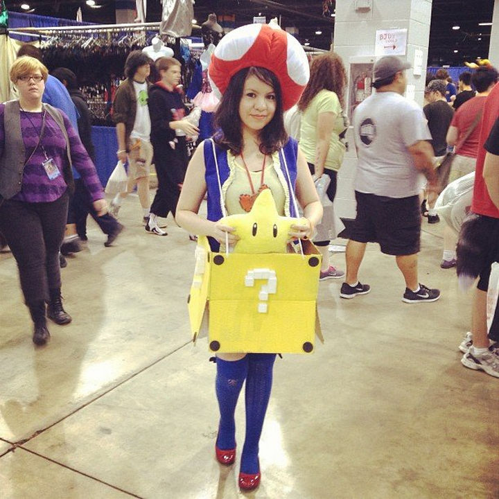 23 Super Mario and Luigi Costumes - Great toad cosplay.
