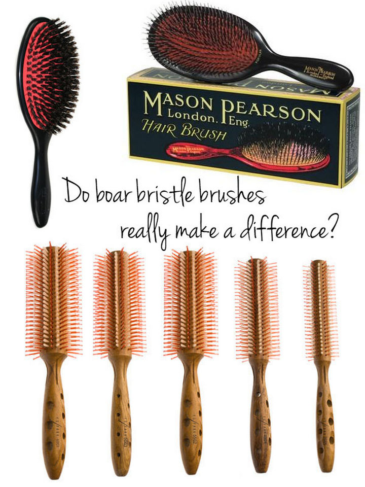 25 Lazy Girl Hair Hacks - Instead of using anti-frizz treatments, use a boar bristle brush to pull oil from your scalp and onto your hair.