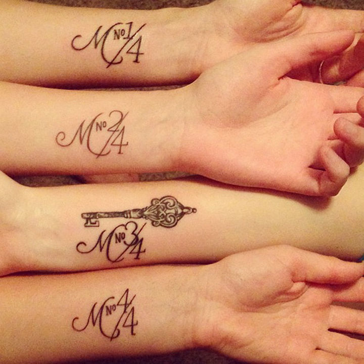 28 Sister Tattoos - Four sisters who know where they stand.