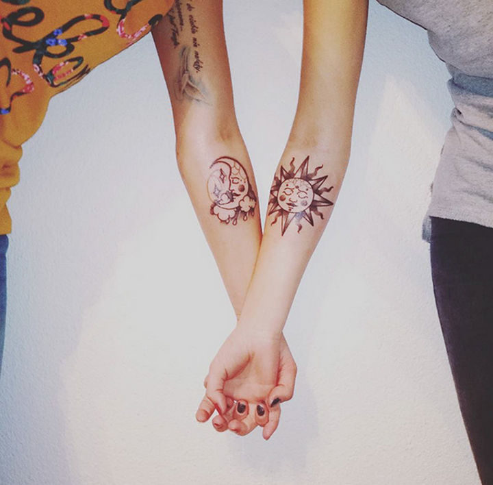 28 Sister Tattoos - Our sisterly love is like night and day.