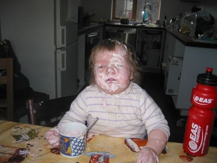30 Reasons Why Kids Are the Worst - They love making a mess...