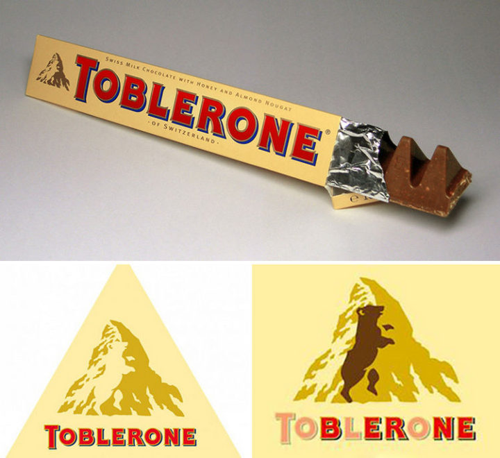 33 Famous Company Logo With Hidden Messages - Toblerone logo hidden meaning.