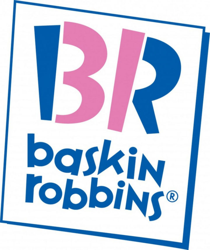 33 Famous Company Logo With Hidden Messages - Baskin Robbins logo hidden meaning.