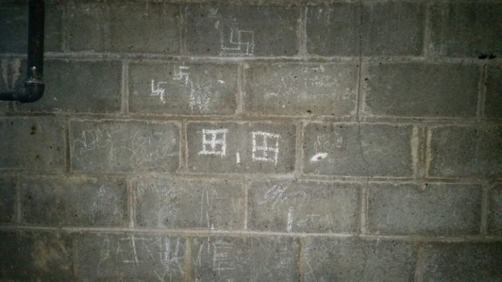 There were also some weird shape drawings that appeared to be swastikas. This is getting creepy.
