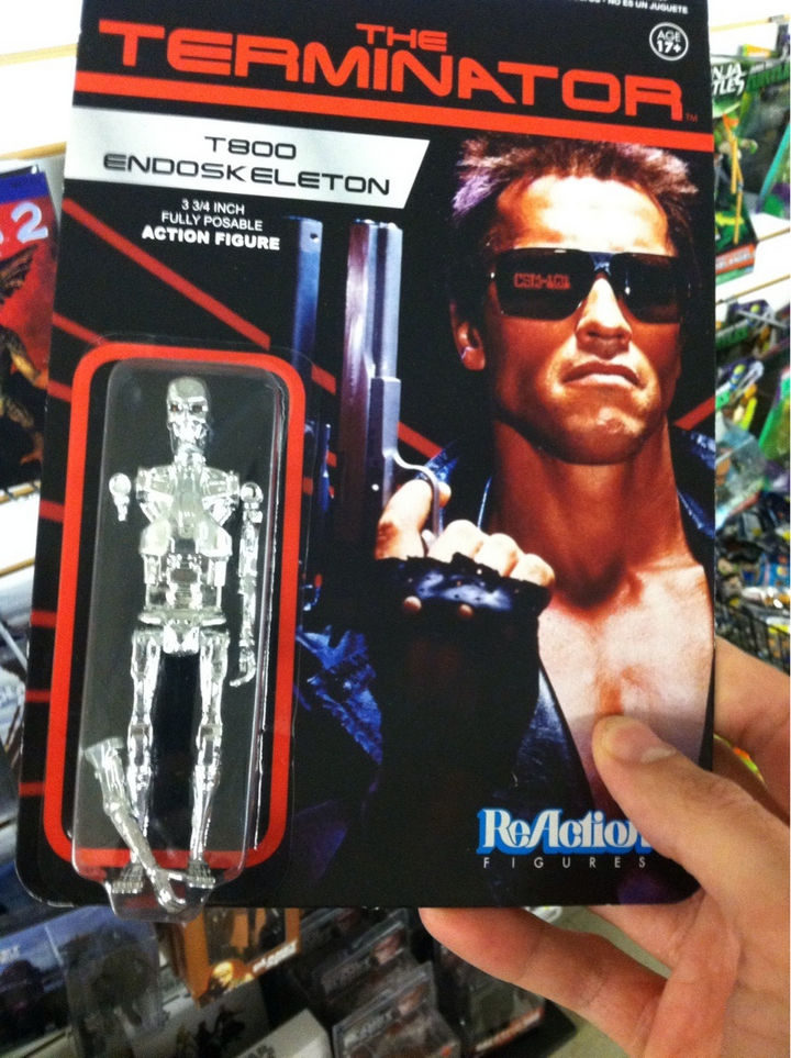 13 Factory Rejects - According to the original Terminator movie, this T800 endoskeleton toy figure probably isn't broken at all!