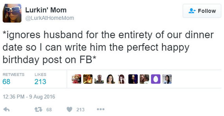 18 Funny Tweets About Marriage - Can't forget that important Facebook birthday post.