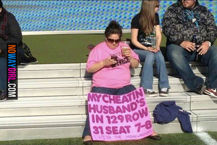 19 Funny Karma Images - Her cheating husband probably received a lot of dirty looks.