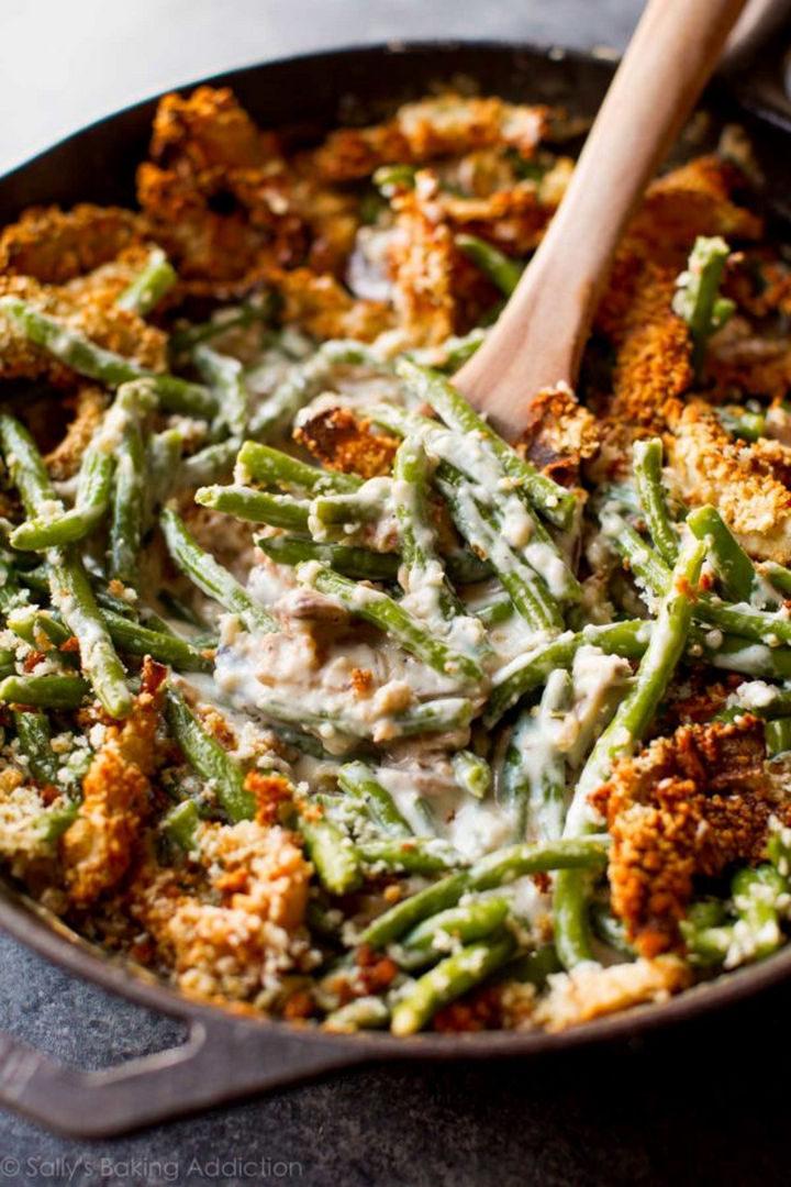 20 Top Pinterest Thanksgiving Recipes - Creamy Green Bean Casserole from Scratch.