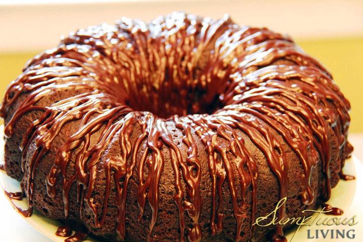 Mandy's Triple Chocolate Kahlua Cake.