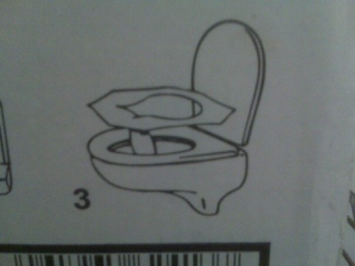 Things you've been doing wrong - Place the flap on toilet seat covers towards the front.