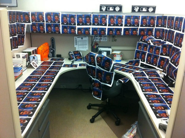 26 funny office pranks that are anything but subtle. Black Bedroom Furniture Sets. Home Design Ideas