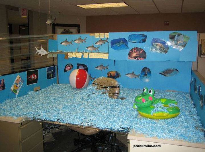 Funny Office Pranks That Are Anything But Subtle - 19 best office desk pranks youve ever seen