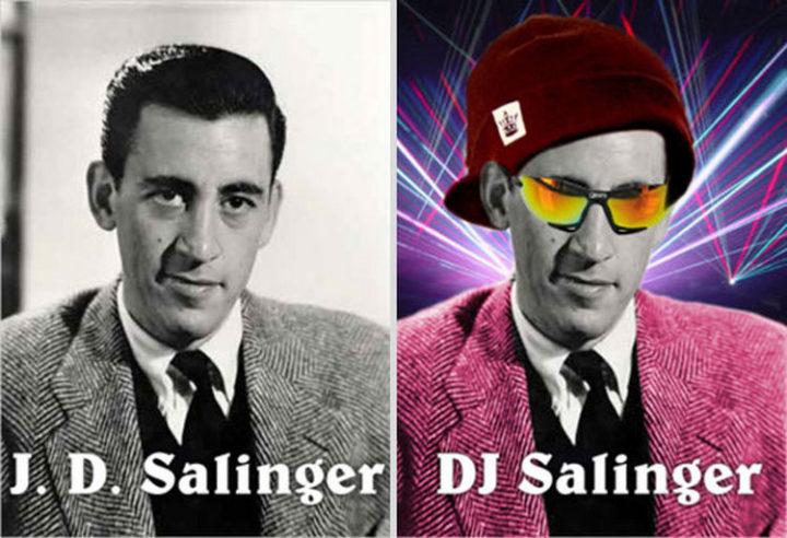 55 Hilariously Funny Celebrity Name Puns - J.D. Salinger.