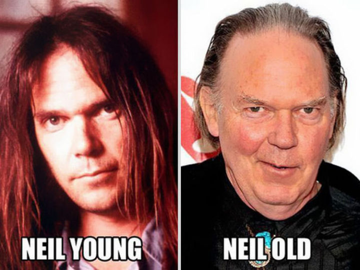 55 Hilariously Funny Celebrity Name Puns - Neil Young.