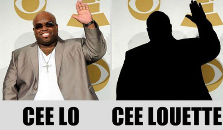55 Hilariously Funny Celebrity Name Puns - Cee Lo.