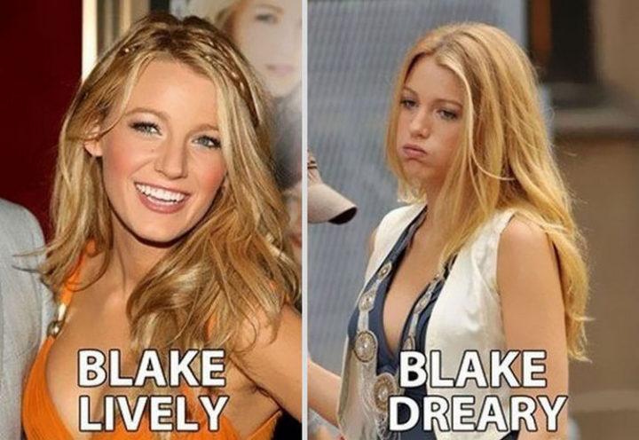 55 Hilariously Funny Celebrity Name Puns - Blake Lively.
