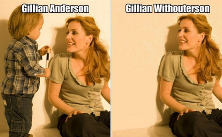 55 Hilariously Funny Celebrity Name Puns - Gillian Anderson.