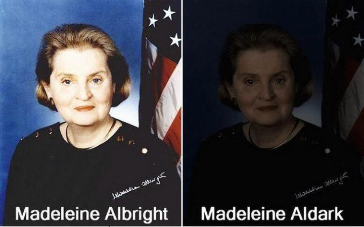 55 Hilariously Funny Celebrity Name Puns - Madeleine Albright.