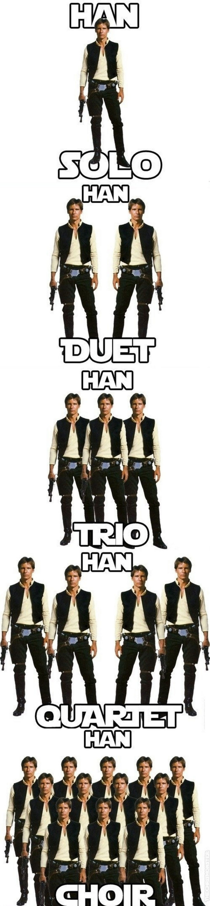 55 Hilariously Funny Celebrity Name Puns - Han Solo.