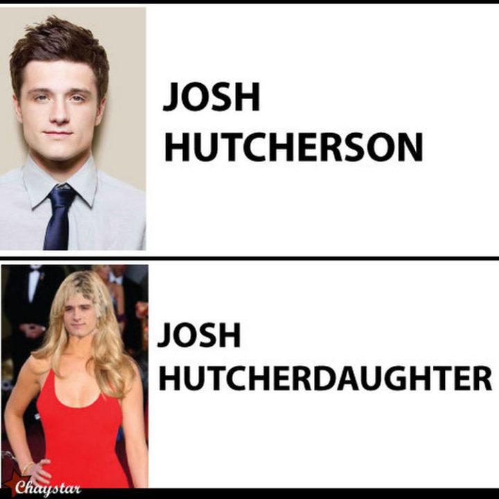 55 Hilariously Funny Celebrity Name Puns - Josh Hutcherson.