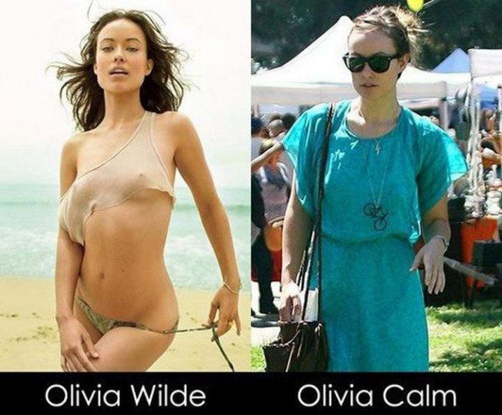 55 Hilariously Funny Celebrity Name Puns - Olivia Wilde.